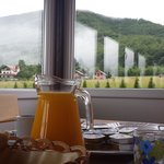 Breakfast on the indoor terrace