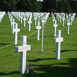 The American Cemetery near Omaha Beach, Normandy, France