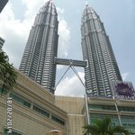 Petronas Towers from the KLCC outside area