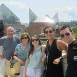 In front of Tennessee Aquarium