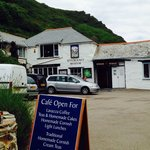 The outside of the museum, situated along Boscastle's small but cute harbour side