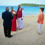 Vow renewal, arranged by Elise Yap (pictured on right)