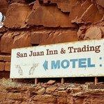 At the entrance to the San Juan Inn
