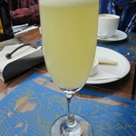 pisco sour on the rooftop restaurant