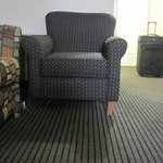 Chair with missing leg - after it fell over on me