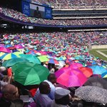 Sea of Umbrellas at International Convention