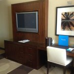 TV and Desk Areas
