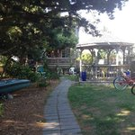 Bikes, kayaks, and gazebo for guest use