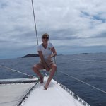 sur le catamaran