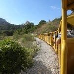 la rocca vista dal trenino