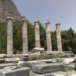 The ruins of the temple of Athena