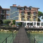 Hotel view from the lake Garda