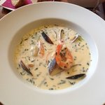 Delectable seafood chowder