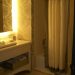 Bathroom 1 (note all the amenities on the counter by the shower)