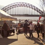 Newcastle - by the Tyne and its bridges. Wetherspoons 'Quayside' nearby.