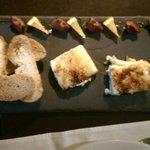 Törtchen aus karamelisierten Ziegenkäse und Foie gras