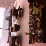 Petit déjeuner dans la villa