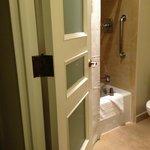 Decorative bathroom door