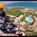 Me above the Cephalonia Palace and XI Beach