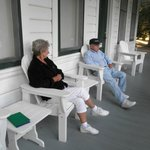 Relaxing on the veranda