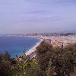 View if the Mediterranean Sea and the Promenade