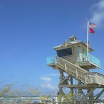 Lifeguard Tower- red flag up!