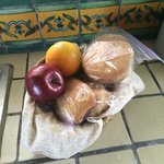 Gift Basket - fruits and homemade baked goods
