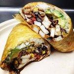 Blackened calamari burrito