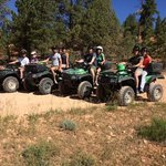 8 of us, 4 ATV's