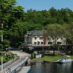 Kenney's Hotel from the sun deck of the Kawartha Voyageur, Jones Falls, 2014