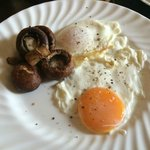 Farm fresh eggs and wonderful mushrooms