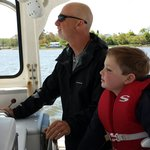 Captain Robertson and his first mate, Brody Marshall