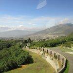 Looking towards Quito