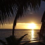 Sunset from our beach fale
