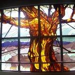 Stain glass lobby