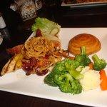 BBQ Chicken Burger w/ Veggies