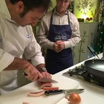 Chef David provides knife skills instruction during our class.