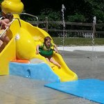 The new duck slide at the Notchville Splashpad