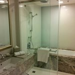 Deluxe room. Nice bathtub and shower.