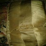 Ripped decorative pillow