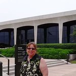 Standing in front of the Amon Carter Museum