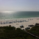 View of the beach/gulf from our 10th floor balcony.