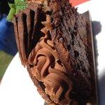 Dessert menthe et chocolat, cookies et ganache au chocolat menthe fraîche ..... Grrr