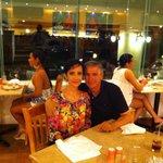 en la cena con mi esposa