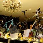 Tour de France decor on ground floor