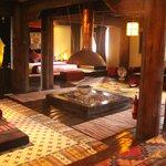 open style lounge bedroom area