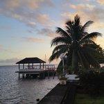 Coucher de soleil vu de la terrasse du bungalow