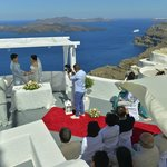 Our wedding organized by Chrisoula from Enigma