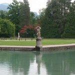 Pond in the park of Schloss Hellbrunn, Salzburg