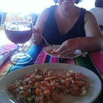 Ceviche made from our fresh catch!